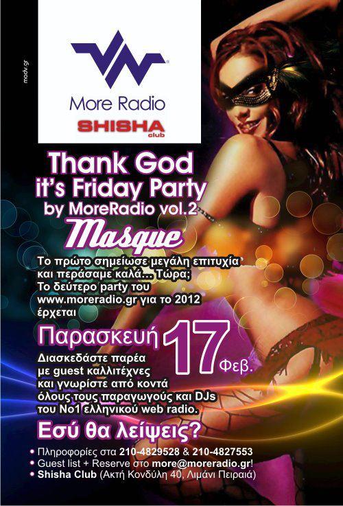 Σήμερα 17.02: Thank God Its Friday (by Moderadio vol 2)