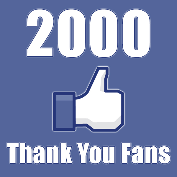 2000 Likes! Thank You!!