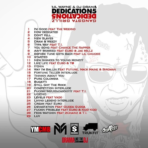 Mixtape-Lil Wayne – Dedication 5-back-beattown