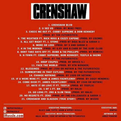 Mixtape-Nipsey Hussle – Crenshaw-back-beattown