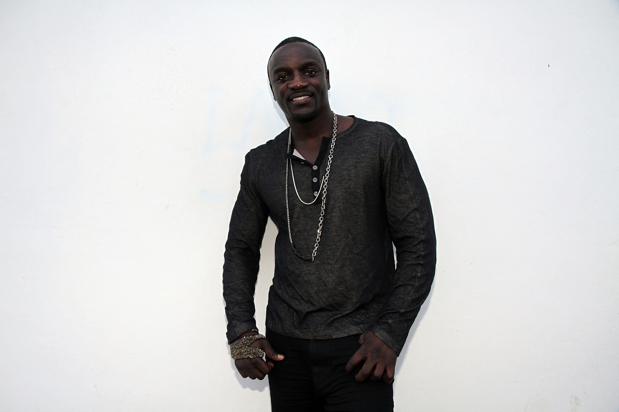 "MIAMI, FL - MARCH 16:  Akon at his  ""Hurt Somebody"" Music Video on March 16, 2012 in Miami, United States.  (Photo by Aaron Davidson/Getty Images for Universal Republic Records/Akon)"