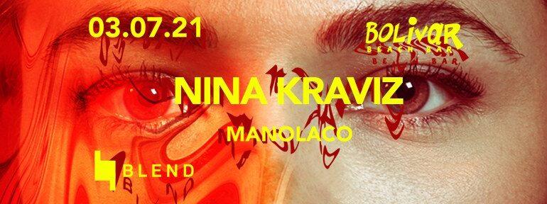 Nina Kraviz το Σάββατο 3 Ιουλίου ζωντανά στο Bolivar Beach Bar